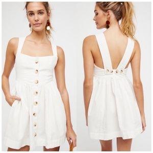 Free People Carolina White Mini Dress Size 10